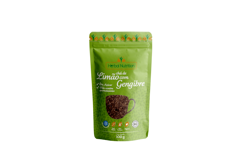 Chá de Limão com Gengibre - Herbal Nutrition 100g