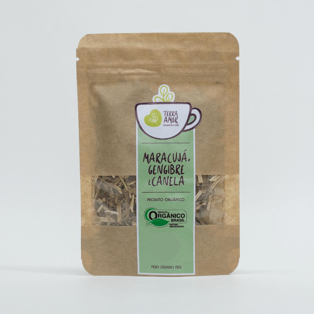 Chá Orgânico Maracujá, Canela e Limão - Terra Amor 15g