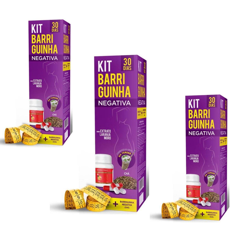 Chá Seca Barriga - Kit Barriguinha Negativa Kit com 3