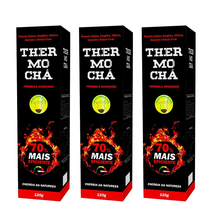 Chá Thermo Orgânico Energia da Natureza 120g Kit com 3