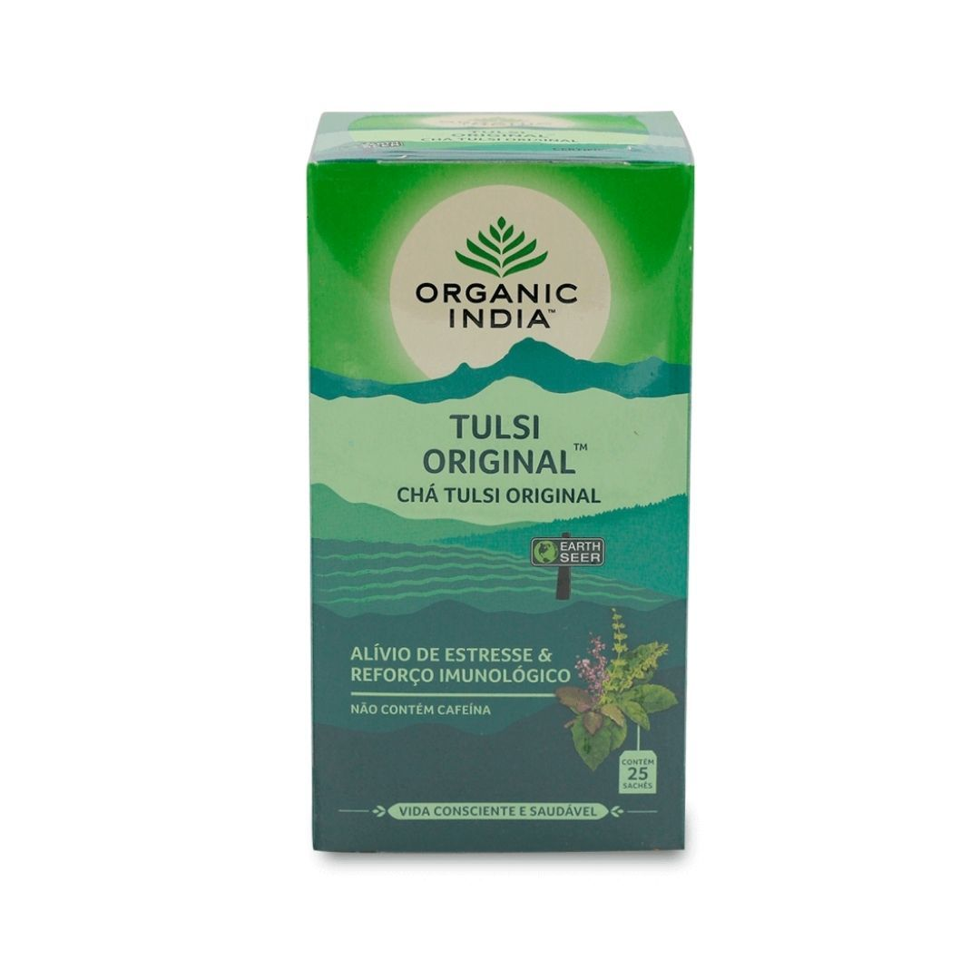 Chá Tulsi Original Organic India Cx 25 Sachês 45g
