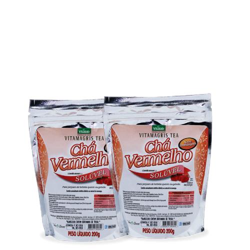 Chá Vermelho Solúvel - Vitalab 200g Kit com 2 Unidades
