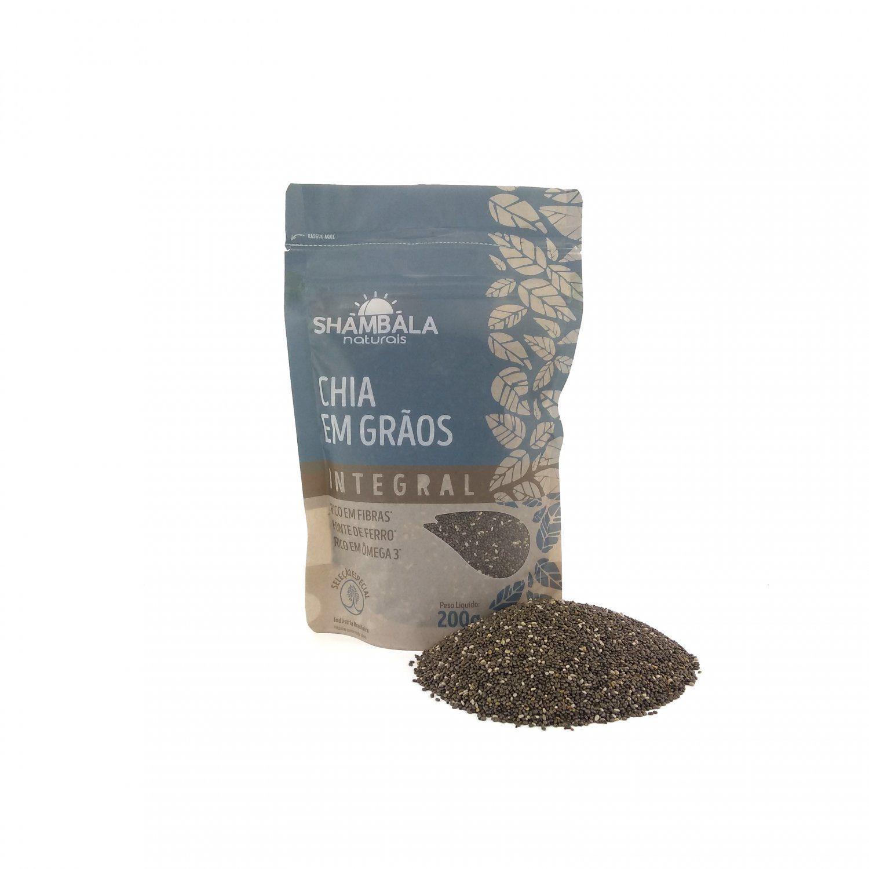 Chia preta em grãos Shambala 200g