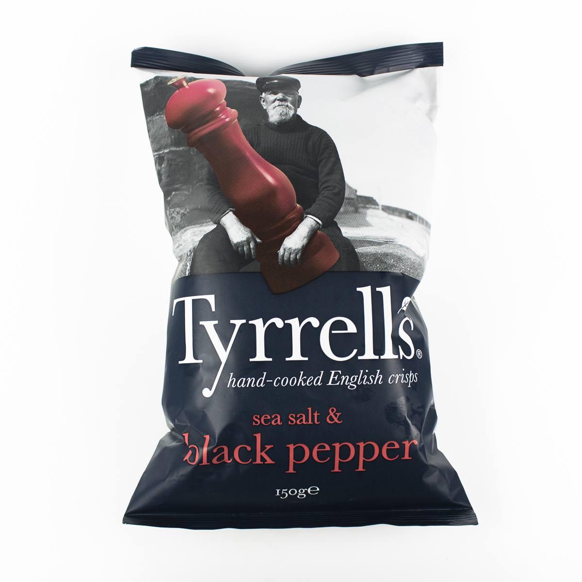"Chips de Batata Sea Salt & Black Pepper"" Tyrrells 150g"