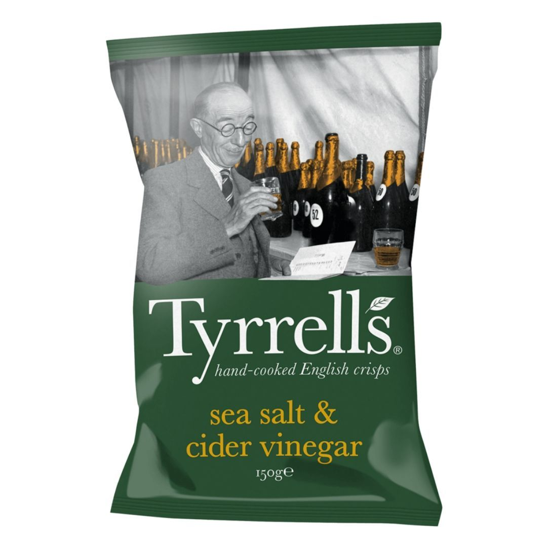 "Chips de Batata ""Sea Salt & Cider Vinegar"" Tyrrells 150g"