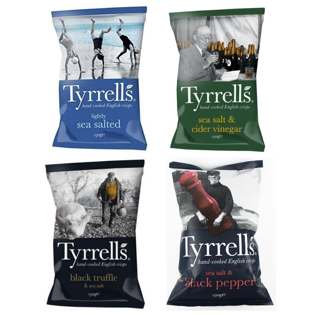 Chips de Batata Tyrrells 150g - KIT com 4