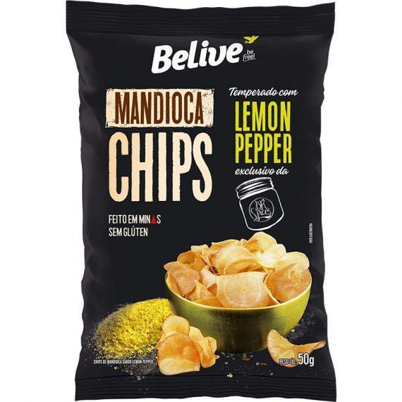 Chips mandioca com lemon pepper Belive 50g