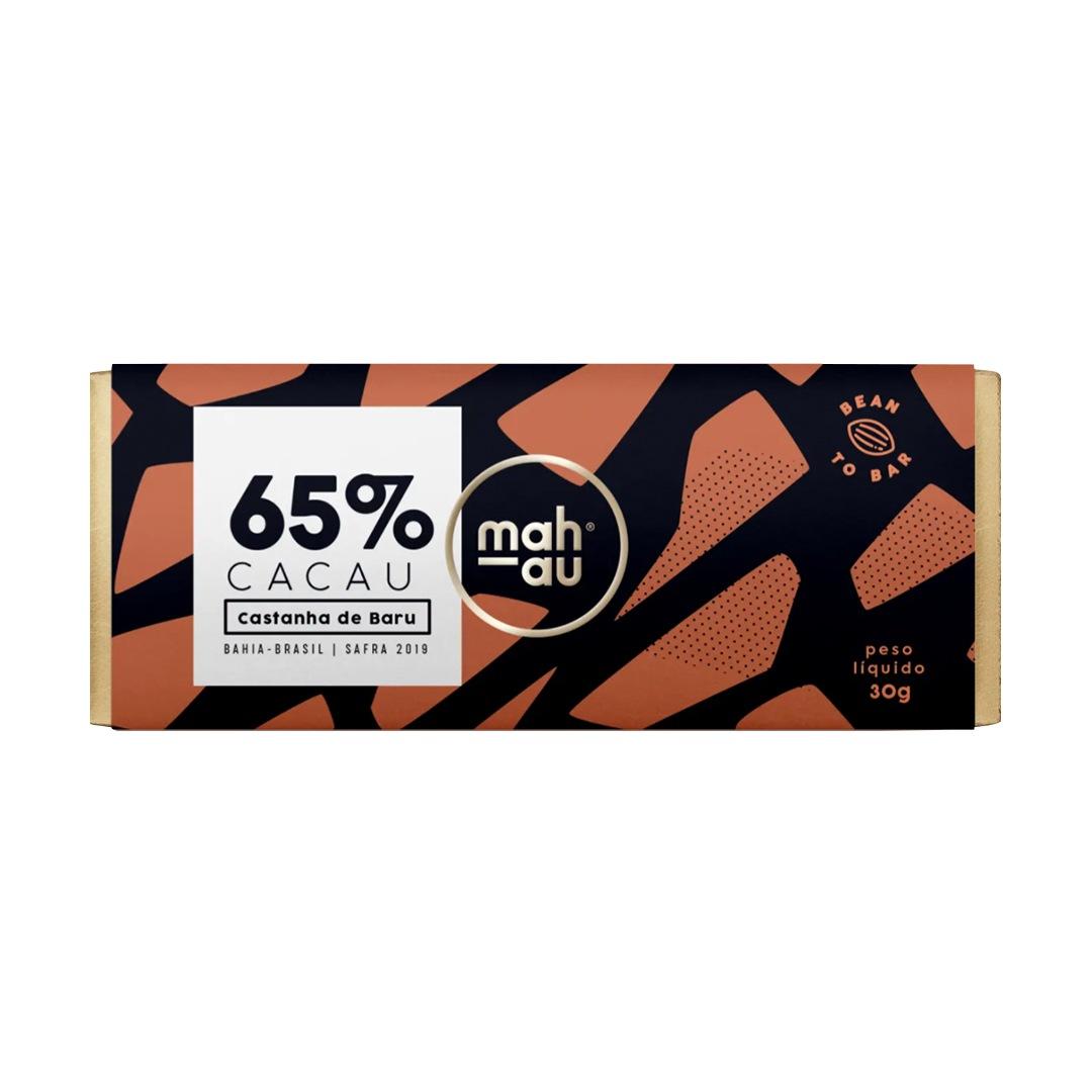 Chocolate 65% Cacau com Castanha de Baru - Mahau 30g