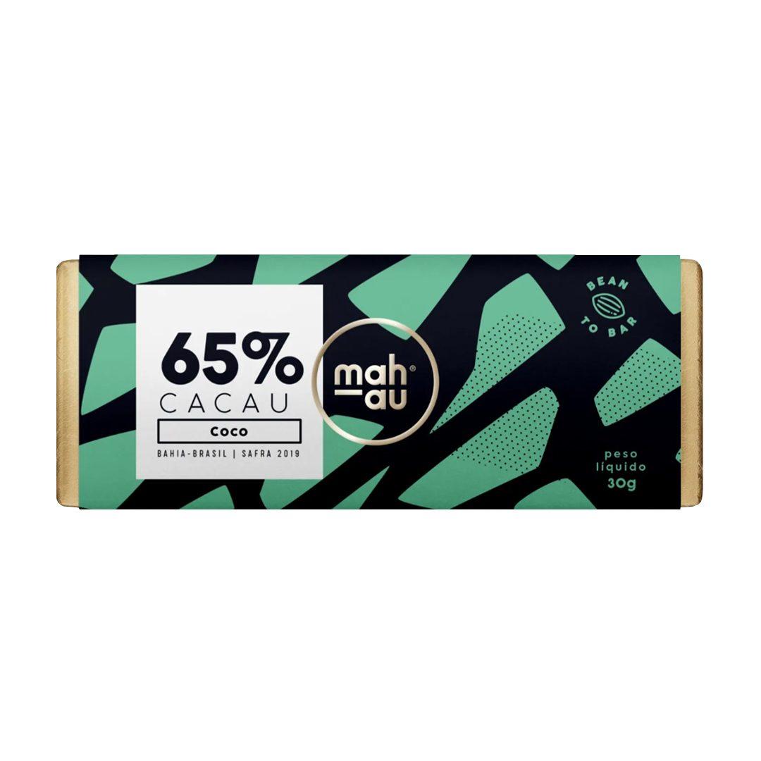 Chocolate 65% Cacau com Coco - Mahau 30g