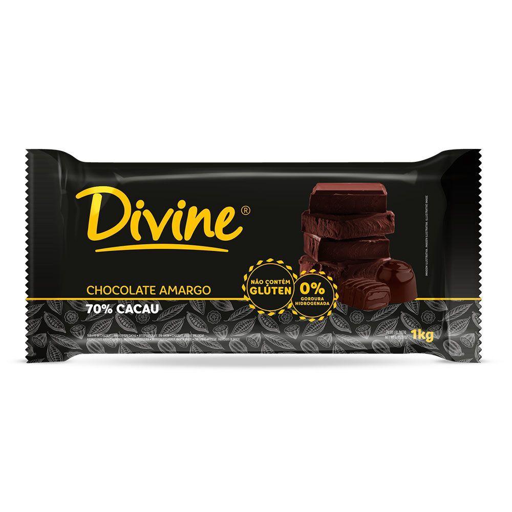 Chocolate amargo Divine 1Kg
