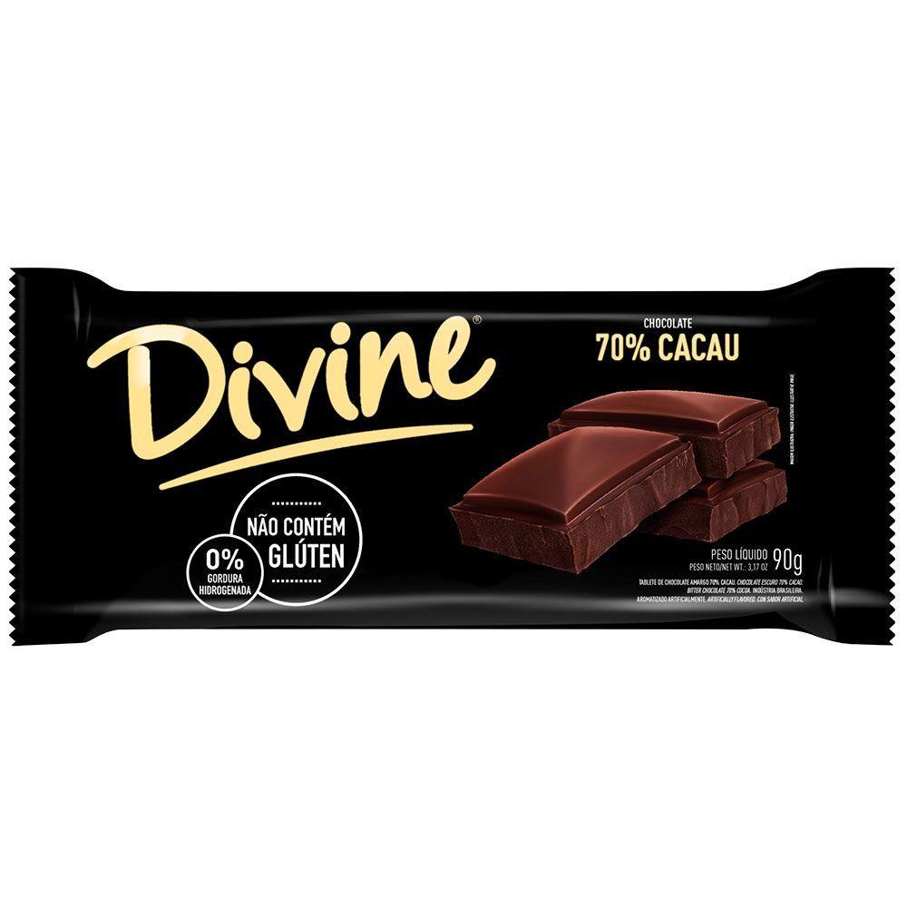Chocolate amargo Divine 90g