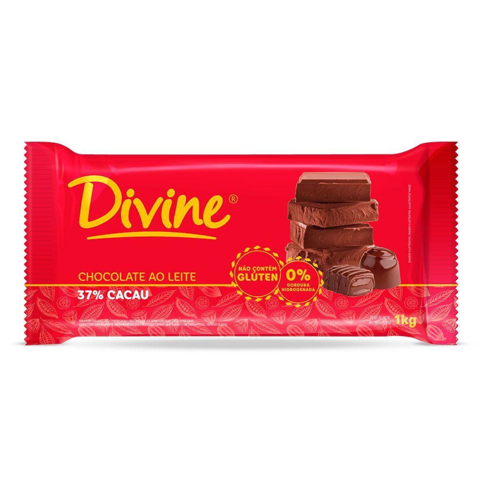 Chocolate ao leite Divine 1Kg
