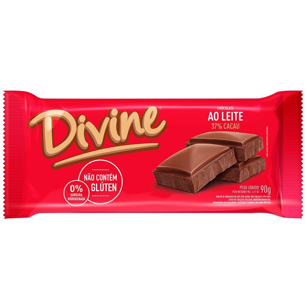 Chocolate ao leite Divine 90g
