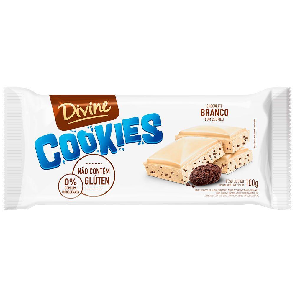 Chocolate branco com cookies Divine 100g