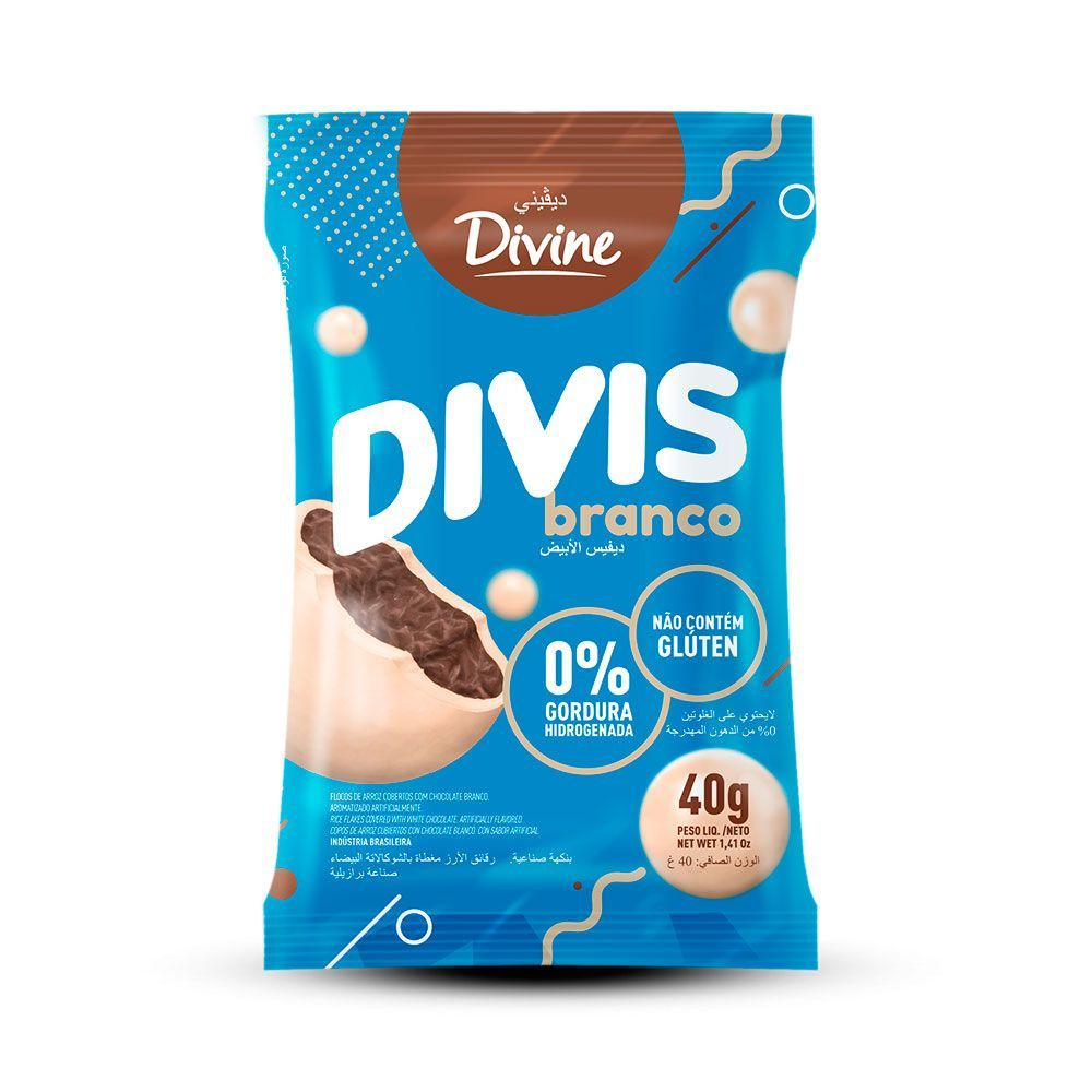 Chocolate branco divis Divine 40g