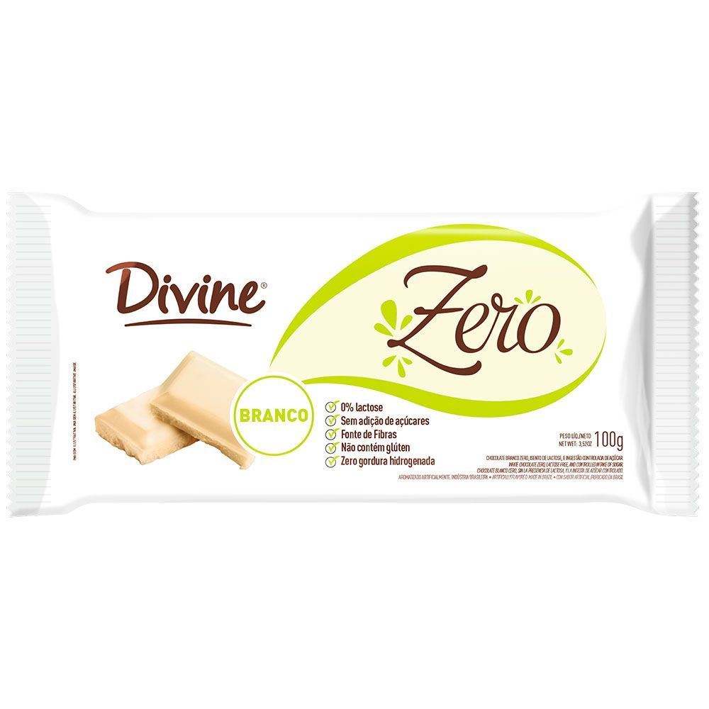 Chocolate branco zero Divine 100g