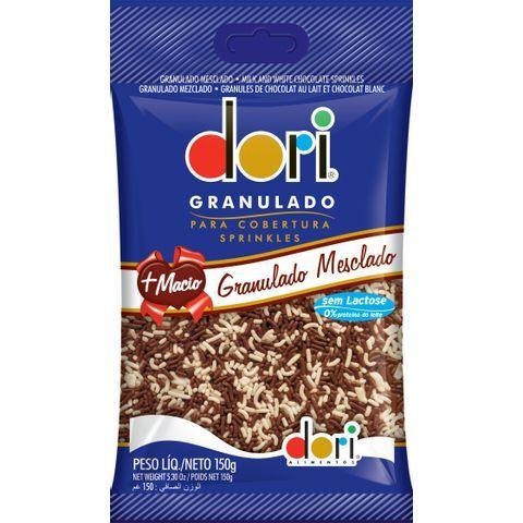 Chocolate granulado mesclado pacote Dori 150g