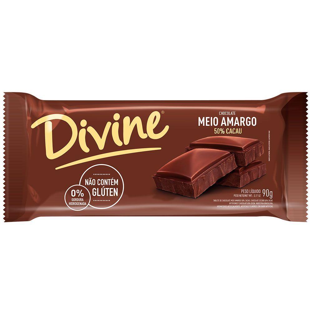 Chocolate meio amargo Divine 90g