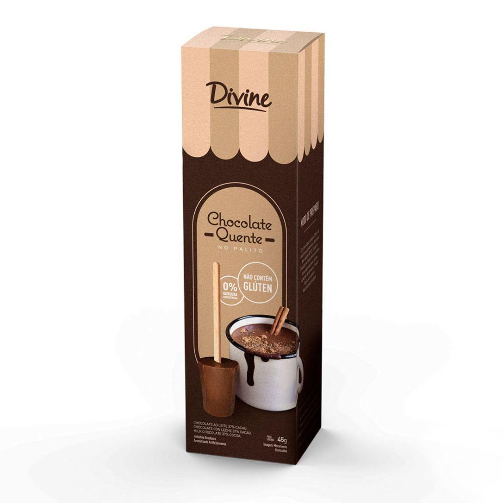 Chocolate Quente no palito Divine 45g