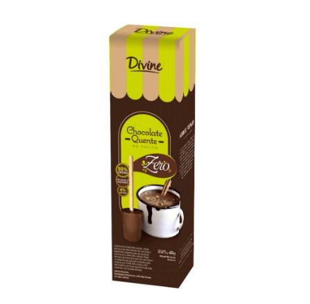 Chocolate quente no palito zero Divine 45g