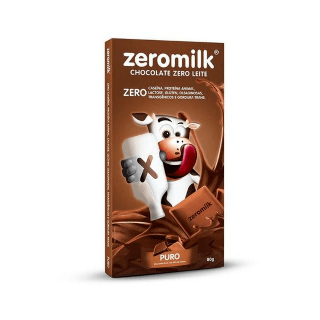 Chocolate Zero Leite Puro  ZeroMilk  80g
