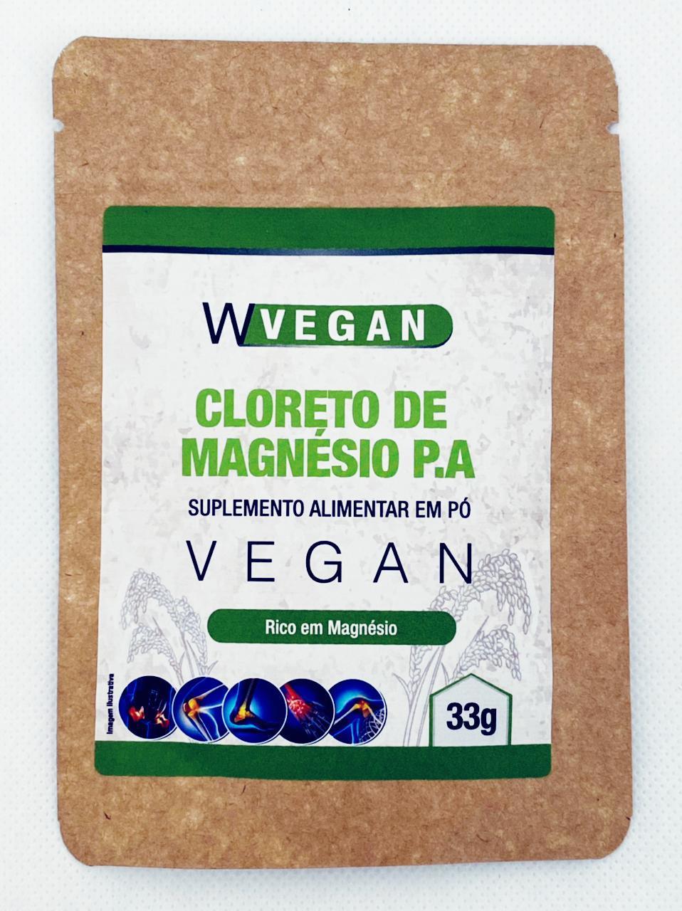 Cloreto de Magnésio P.A com 10 Saches de 33g WVegan