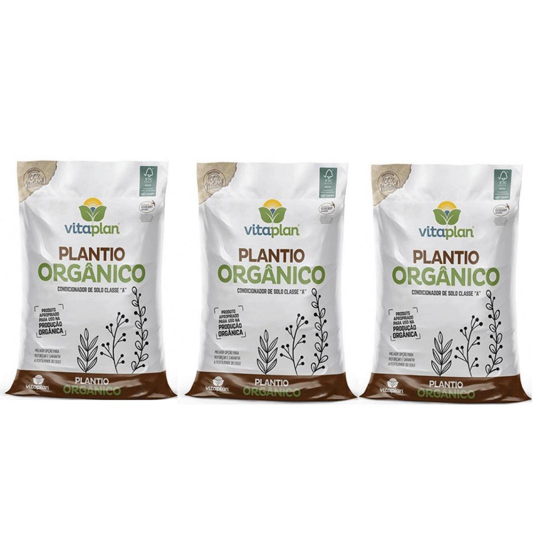 Condicionador de Solo 100% Natural Vitaplan 2kg Kit com 3