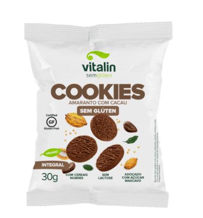 Cookies amaranto com cacau integral Vitalin 30g