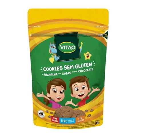Cookies baunilha com gotas de chocolate sem açúcar kids Vitao 80g