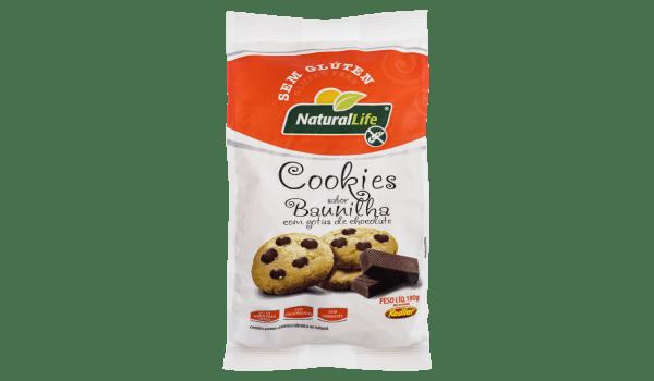 Cookies de baunilha com gotas de chocolate Natural Life 180g