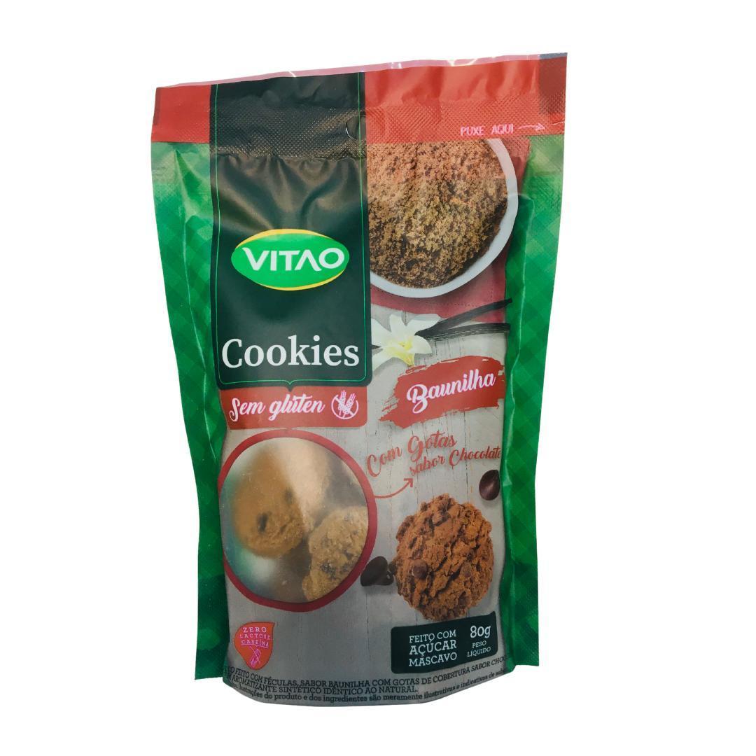 Cookies de baunilha com gotas de chocolate Vitao 80g