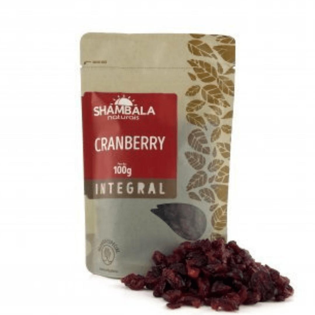 Cranberry Desidratado Sem Açucar Shambala 100g