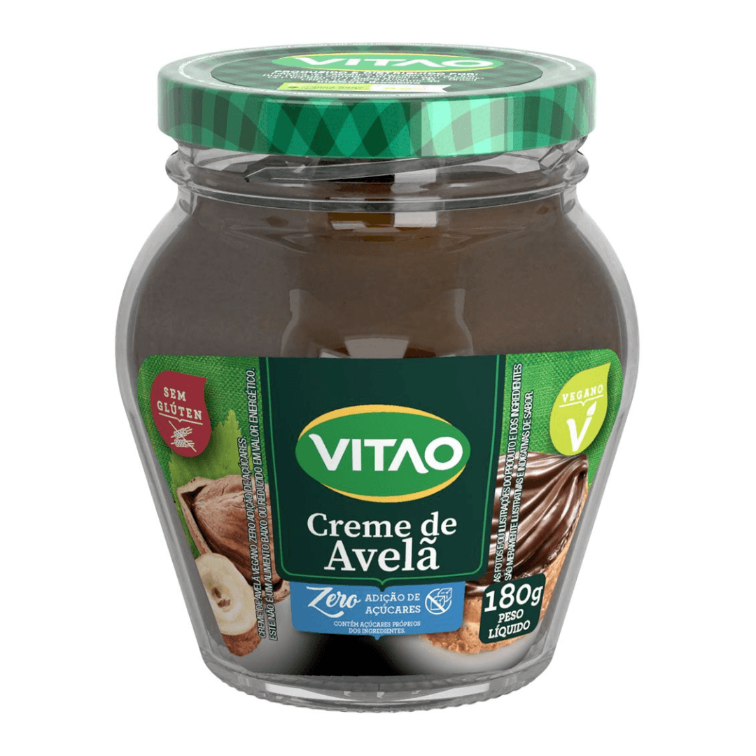 Creme de Avelã Vegano Zero Vitao - 180g