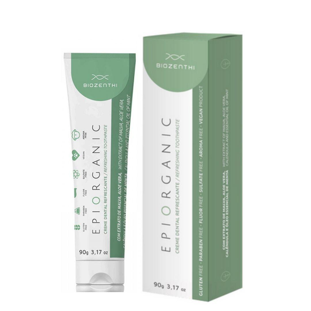 Creme Dental Natural e Vegano Epiorganic 90g Biozenthi