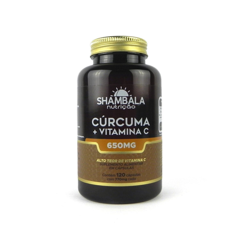 Cúrcuma com Vitamina C Shambala 120 Caps X 650mg