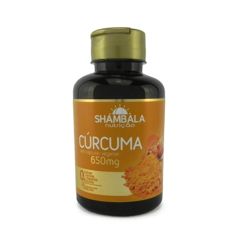 Cúrcuma Shambala Com Vitamina C 60 Caps X 650mg
