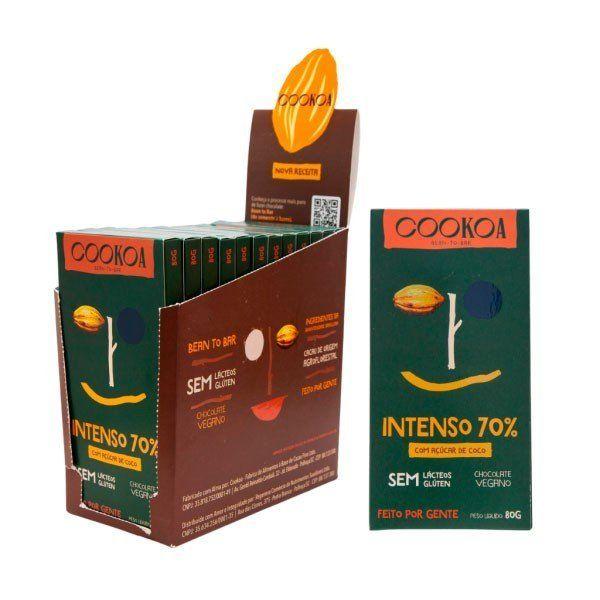 Display c/ 12 barras de Chocolate Intenso 70% de 80g - Cookoa