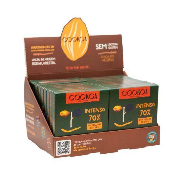 Display c/ 18 barras de Chocolate Intenso 70% de 30g - Cookoa