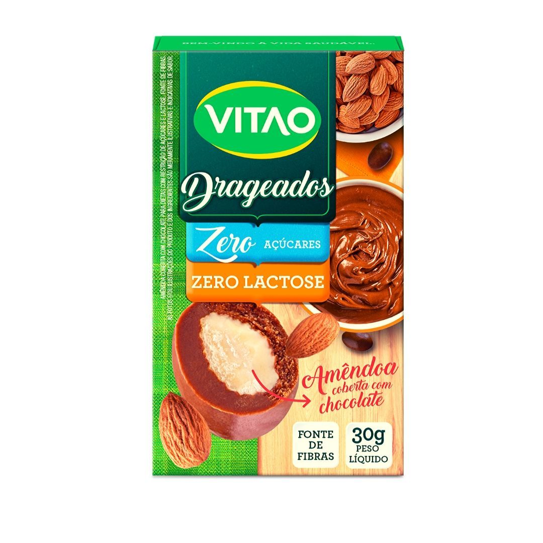 Drageados Zero Lactose com Amêndoa Vitao 30g