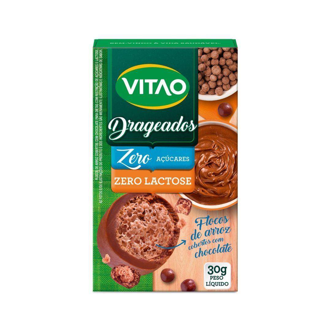 Drageados Zero Lactose com Flocos de Arroz Vitao 30g