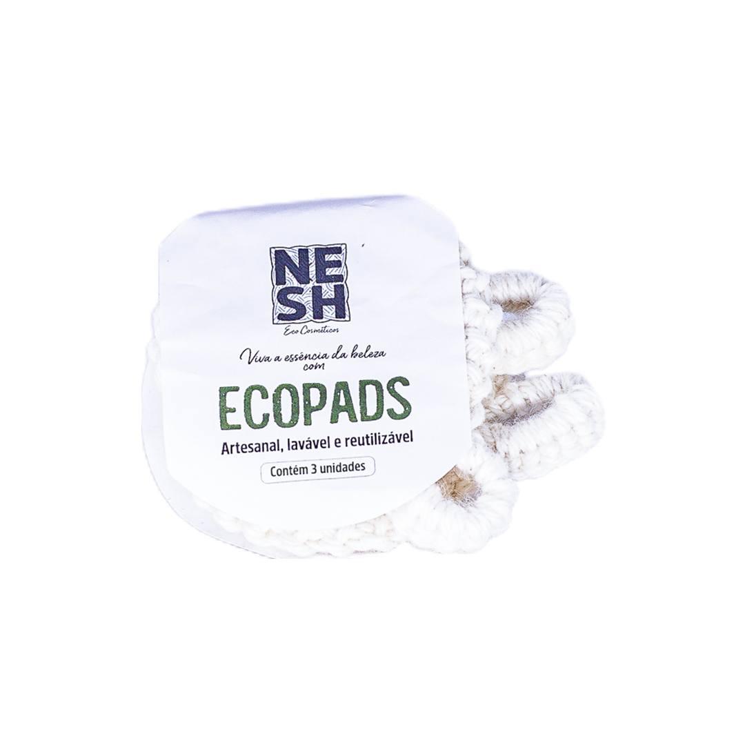 Ecopads Crochê Kit - 3 unidades - Nesh Cosméticos
