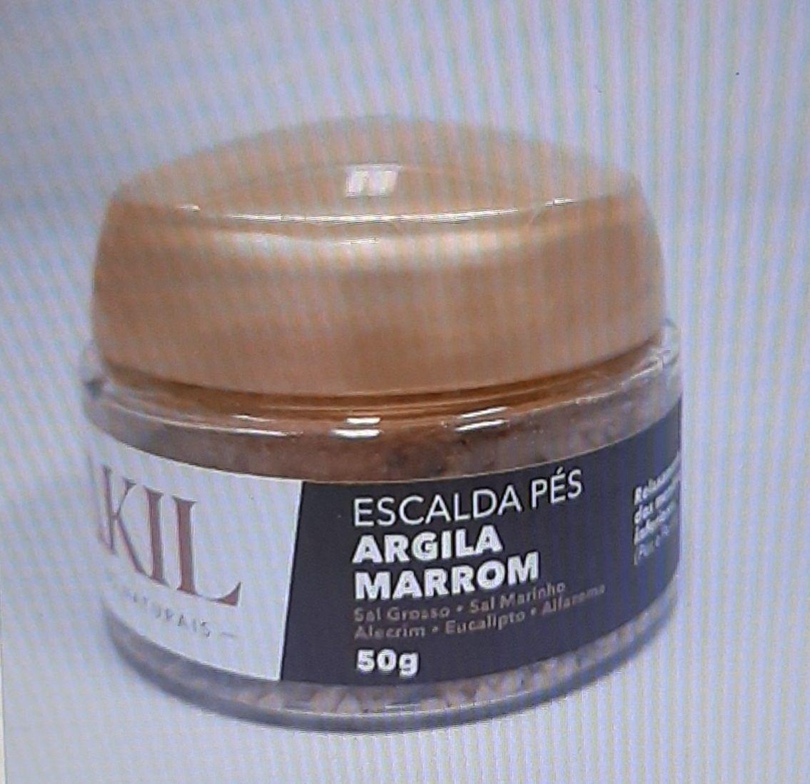 ESCALDA PÉS DE ARGILA MARROM 50 G POTE