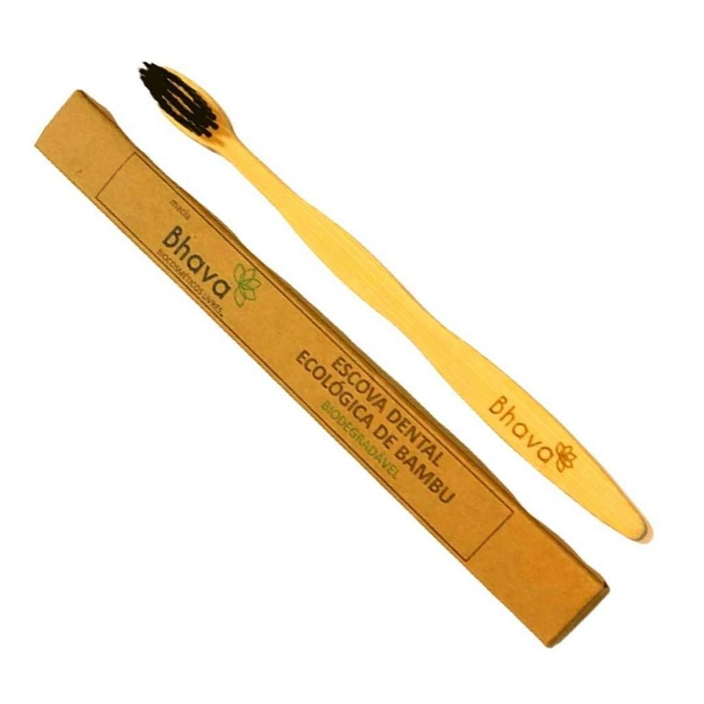 Escova de Dente de Bambu Ecológica Bhava