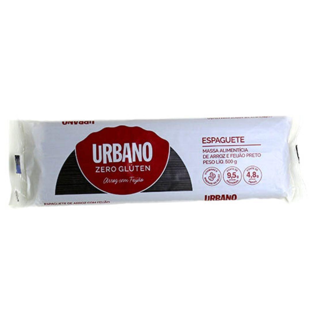 Espaguete de Arroz e Feijão Preto Sem Glúten Urbano 500g