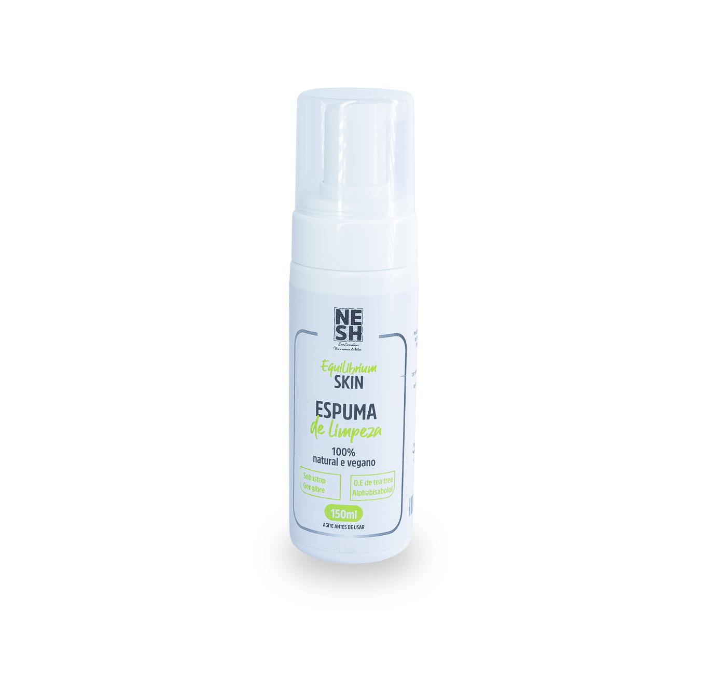 Espuma de Limpeza 100% Natural e Vegana Equilibrium Skin - Nesh Cosméticos 150ml