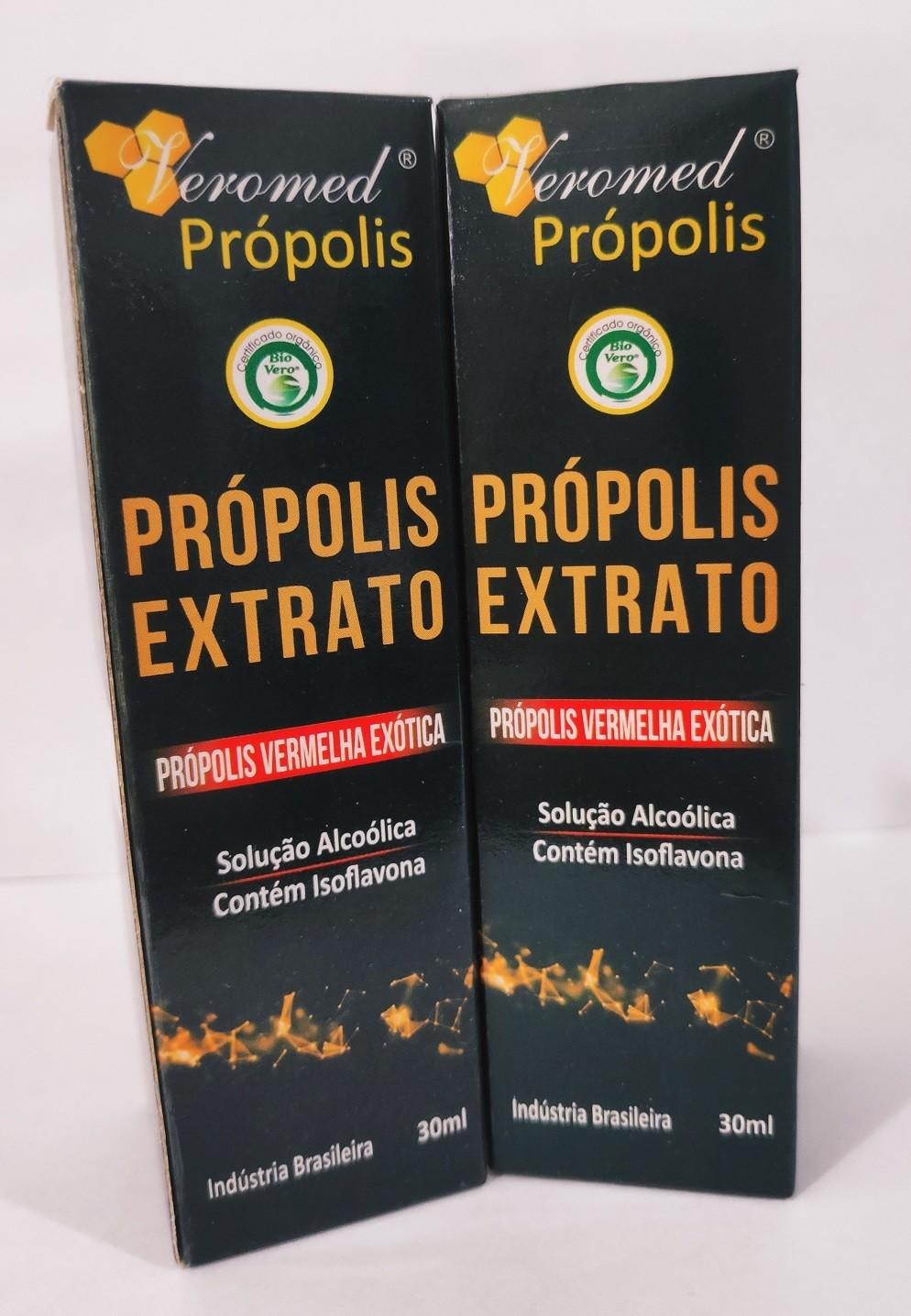 Extrato de Própolis Vermelha Veromed 30 ml  Kit c/ 2 und