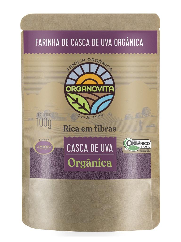 Farinha de Casca de Uva Orgânica Organovita 100g