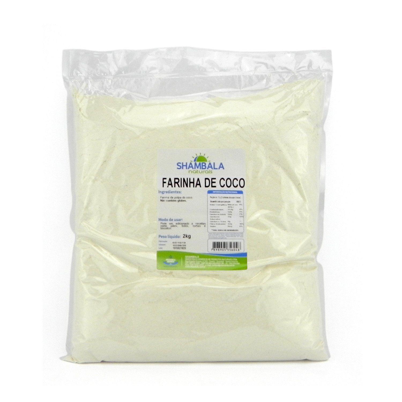 Farinha de coco branca Shambala 2Kg