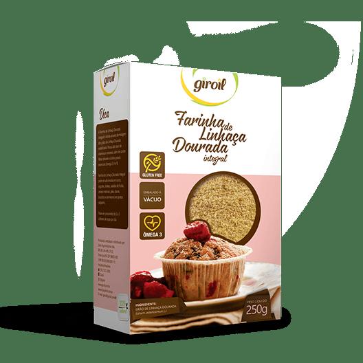 Farinha de Linhaça Dourada Integral – Giroil 250g