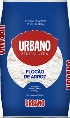 Farinha flocada de arroz flocão Urbano 500g